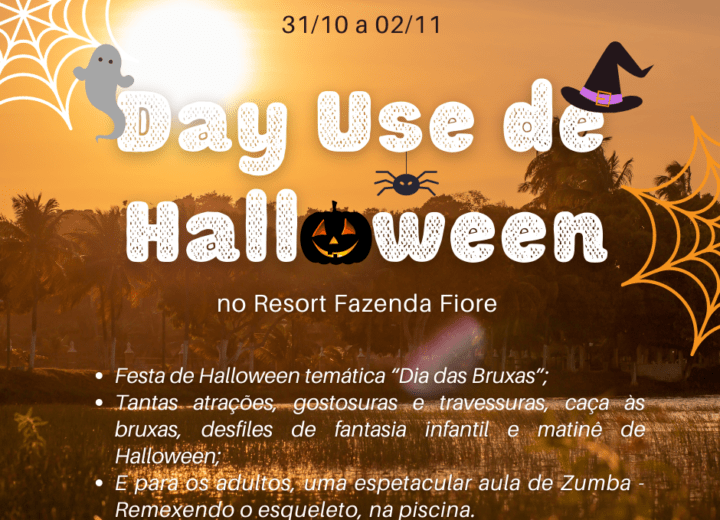 Resort Fazenda Fiore tem Halloween animado no feriadão de sábado 31 – 2 de Novembro